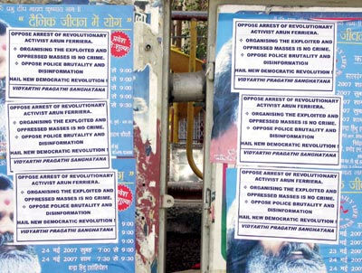 'Free Arun': Posters opposing the arrest of Arun Ferreira were put up  in Bandra after he was arrested